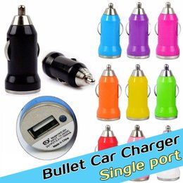 Wholesale Iphone Charger Single - 2016 High quality bullet single USB car charger adapter cigarette lighter adapter suitable for iphone samsung xiaomi lenovo HTC iPod iPad