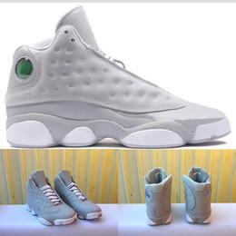 Wholesale Green Carbon Fiber - Retro 13 men basketball shoes Altitude Black Green Grey Air 13s Retro XIII Carbon Fiber Sports designer shoe Trainers running shoes eur41-47