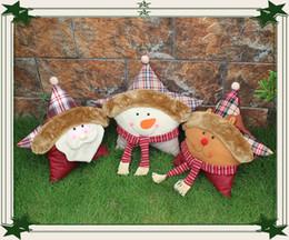 2019 feliz natal 2016 bonito Decoração de Natal Papai Noel, boneco de neve, natal Deer Pillow Toys presente de natal feliz ano novo feliz natal barato