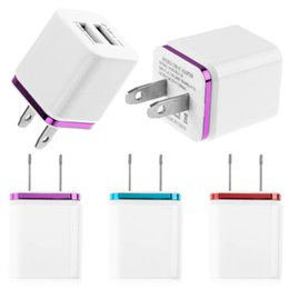 Wholesale Double Docking - Double USB AC adapter home travel wall charger for ipad iphone 4 5 6 sumsung note HTC blackberry