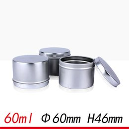 Wholesale Candy Tin Cans Wholesale - 60ml Aluminum Metal Cylinder Tin Cans Tea candy metal case ointment Empty Aluminum Tin for Soy Candle F20172022