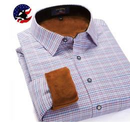 Wholesale Velvet Fashion Blouse - Wholesale-2016 brand U-SHARK new men's winter blouse Casual fashion Men long-sleeved shirt plus thick velvet warm shirts male clothing
