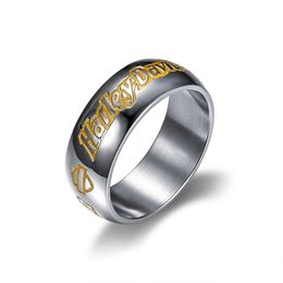 Wholesale rings for bikers - 316 STAINLESS STEEL biker motocyle ring for men.s jewelry hip hop jewelry free shipping