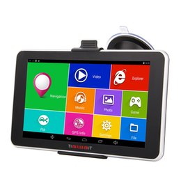 Wholesale Navigation Europe - 7 inch Capacitive Screen Car Truck GPS Navigation 256M 8GB 800*480 FM Navigator 2016 US Canada Europe Navitel Russia Free 3D Maps