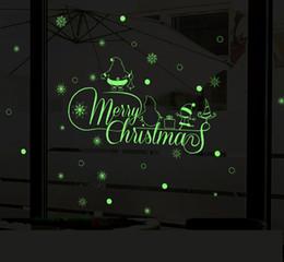 виниловый виниловый винил Скидка 60x30cm Светящиеся стикеры рождественской стены DIY Съемные украшения искусства Windown стикер дома Decor Shop Window Decoration