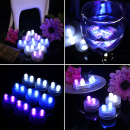 Wholesale Led Underwater Lights Battery - LED Candle Lights Underwater Tea Light Submersible Waterproof Electronic Candle Sub Lights Battery Christmas Wedding free shipping