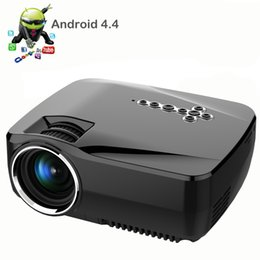 Wholesale Micro Projector Lcd - Android 4.4 LED Mini Pocket Micro HD USB WIFI Led Multimedia Home Theater Cinema Video Projector