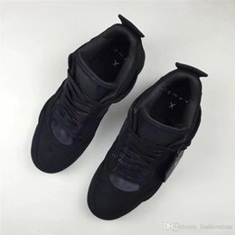 Wholesale Spring Come - 2018 Newest KAWS x Air Retro 4 Black Man Basketball Sneakers Athletic & Outdoor Shoes Authentic Quality Come With Original Box