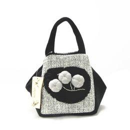 Wholesale Bag Cosmetic Coloured - Newly cosmetic bag handbag linen bag Dongba two colour joint bag coin pouch change pocket mini handbag