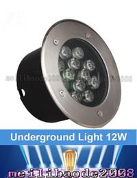 Wholesale 12w underground led light - 12W Led Underground Light 12V IP67 Waterproof Ground Led Buried Lamp Project Landscape Lights Engineering Light Outdoor Garden Step Light