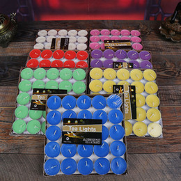 Wholesale Pillar Sets - Scented Candle Hosley's Set of 50 Tea Light Candles 7 Fragrance Option Tealights Parties Free DHL XL-352
