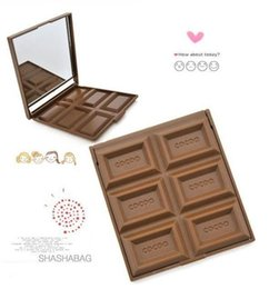 Wholesale Cosmetic Chocolate Mirror - Chocolate Portable Mirror Makeup Cosmetic Pocket Mirror Cute Girl Gift Female Women Make Up Tool Brown Color