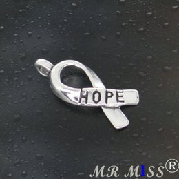 Wholesale Necklaces For Guys - Come on Guys 202pcs bow Hope Charms Pandora Antique Silver Alloy Jewelry Fit For Bracelet Pendants Necklace Man&Woman 19mm
