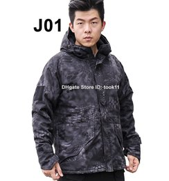 Wholesale Camouflage Waterproof Hunting Jacket - Softshell jacket men bomber outdoor military tactical hunting clothes waterproof windproof coat camouflage army kryptek typhon windbreaker