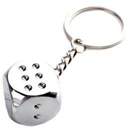 Wholesale Dice Keyring - Creative Dice for mahjong Key Chain Ring Keychain Keyring Key Fob gift E00125 OSTH