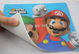 "Wholesale Plastic Mouse Mat - Super Mario Bros Laptop Computer Mouse Mat Mousepad,Cartoon Design Mouse Pad(8.2""L*7.1""W) mouse pad red mouse wall"