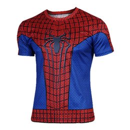 Wholesale Spiderman Cycle Jersey - 2016 Hot Selling Handsome Spiderman Cycling Jersey Tops Anti Wrinkle & Quick Dry Short Sleeve Cycling Jerseys Tops Cycling For Beginners