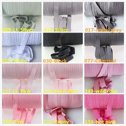 "Wholesale Elastic Rolls - 90colors fold over elastic solid headband 5 8"" solid FOE for Baby headbands, baby girl headbands ,fold over elastic 100 Yards Roll"