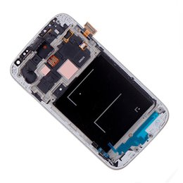 Wholesale Film Assembly - Wholesale-LCD Display Touch Screen Digitizer Assembly For Samsung GALAXY S4 LCD I9505 White Blue + Tools + Film