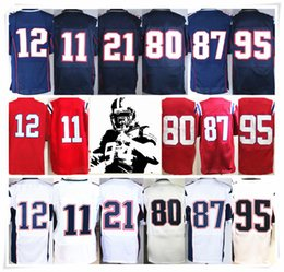 Wholesale Butler Jerseys - With Name & Logo Stitched ELITE 11Julian 12 BRADY 87 Rob 21 BUTLER 95 JONES 80 AMENDOLA PATS Football Jerseys Sport HOT