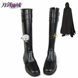 Wholesale Handmade Art Shoes - Wholesale-Sword Art Online 2 Death Gun Cosplay Shoes Boots Professional Handmade ! Perfect Custom for You !