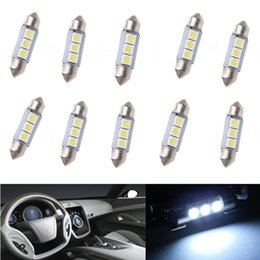 Wholesale 36 Smd Dome Led - 50x car Festoon Dome Map Interior LED Light Bulbs Roof Lamp 36MM 5050 3-SMD White DIY
