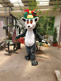 Wholesale Mascot Costumes Sale - Hot Sale Cartoon Movie Character Madagascar Lemur mascot costume Adult Size free shipping