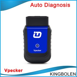 Wholesale Universal Audi - Original Vpecker Bluetooth Full Function As Launch X431 Idiag Easydiag OBD2 OBD2 Code Scanner Universal Auto Diagnostic Tool Scaner