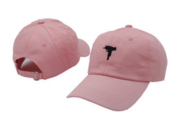 Wholesale Cream Gun - Hot top selling Uzi Gun Baseball Cap US Fashion 2017 Snapback Curve visor Camping Hunting Cap Hip hop 6 panel Hat casquette de marque
