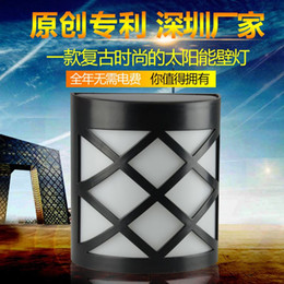 Wholesale The new solar lamp European fashion solar lamp waterproof outdoor enclosure lamp patent products