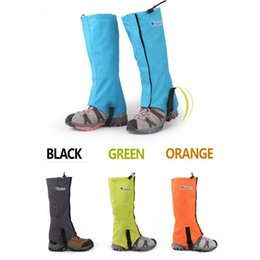 Wholesale Climbing Legs - Bluefield Waterproof Outdoor Windproof Snow Gaiters Leg Protection Guard Skiing Hiking Climbing Orange Blue Grey Green H12528