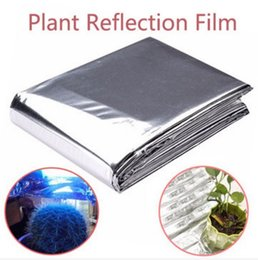 Wholesale Greenhouses Free Shipping - Free Shipping !!! 82x47 Inch Silver Plant Reflective Film Grow Light Accessories Greenhouse Reflectance Coating Increase 90% reflectance