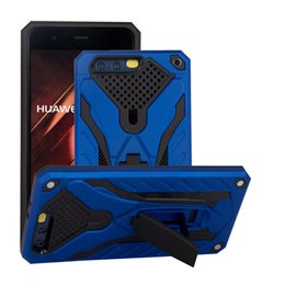 Wholesale Rubberized Phone Covers - Protective Cover For Huawei Mate 10 9 Pro P10 P9 3 in 1 Rubberized Stand Shockproof Cell Phone Cover