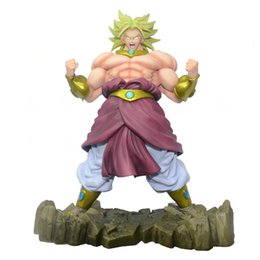 Wholesale Dragon Ball Z Figures Actions - Dragon Ball Z Kai Broli Action Figure Super Saiyan Broly Doll PVC ACGN Figure Toy Brinquedos Anime 22.5CM