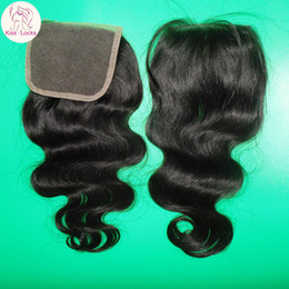 Wholesale Express Shipping Hair - Cheapest Brazilian Virgin Hair Lace Top Closure 1pack Body Wave Texture Express Shipping