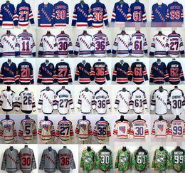 Wholesale Hockey 13 - New York Rangers Jerseys Hockey 13 Kevin Hayes 16 Derick Brassard 27 Ryan McDonagh 30 Henrik Lundqvist 36 Mats Zuccarello 61 Rick Nash