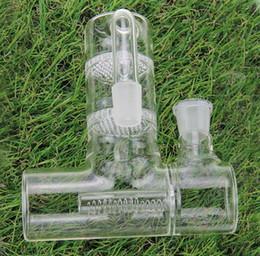 Grandi dimensioni collettore della cenere di vetro per i tubi di acqua di vetro Reclaim Ash Catcher Lacunaris Inline due favi ashcatcher in 14 mm o 18 millimetri da abito di sesso fornitori