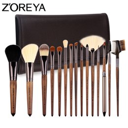 Wholesale brush zoreya - Zoreya Brand Soft Make Up Brushes 15pcs Professional Cosmetics Brush with Pu Bag As Makeup Tool for Beauty Essential Brush Set