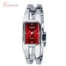 Wholesale Kimio Brand For Watch - Kimio Women Watches Brand Luxury Rectangle Stainless Steel Bracelet Watch For Women Dress Quartz-watch Wristwatch Clock
