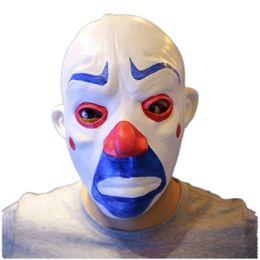Wholesale Dark Knight Batman Costume - Latex Adult Batman Joker Clown Bank Robber Mask Dark Knight Costume Halloween Masquerade Party Fancy Latex Mask