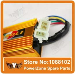 Wholesale Cdi Atv Engines - Performance Racing CDI Square 4+2 pins AC Fired Fit CG CB125 150 200 250cc Motorcycle Dirt Bike ATV Engine Free Shipping