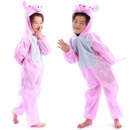 Wholesale Pink Pig Movie - Christmas Halloween Gift Children Pig Party Costume Cartoon Animal Kids Cosplay Costume Clothes Performance