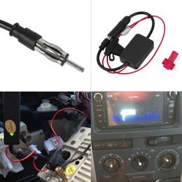 Wholesale booster radio - Black 12V Car Automobile Radio Signal Amplifier ANT-208 Auto FM Antenna Booster