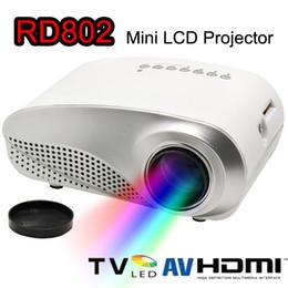 Wholesale Hdmi Design - New Mini LED LCD Projector 1080P HD Projectors RD802 Luxury Design Multi-Media Player HDMI   VGA   USB  SD   AV Portable Home Theater Cinema