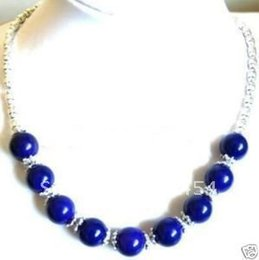 Wholesale Cheap China Jewellery - Wholesale cheap Fancy Jewellery Tibet silver Lapis lazuli Bead Necklace + Gift   Free Shiping