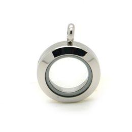Wholesale Stainless Steel Memory Lockets - 20mm 30mm floating locket pendants screw glass locket necklace 316L stainless steel memory locket