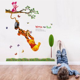 Children Decorative Decals Kids Winnie The Pooh Tiger Wall Stickers Rooms  Adhesive To Wall Decoration Removable 3D Home Decor From Dropshipping  Suppliers Part 74