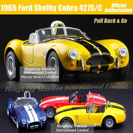 Wholesale Kids Classic Toy Cars - 1:36 Scale Diecast Alloy Metal Classic Car Model For 1965 Ford Shelby Cobra 427S C Collectible Model Collection Toys Car