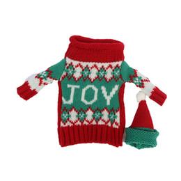 2016 joie lettre conception Bouteille De Vin Couverture Sacs De Noël Décoration Fournitures décor Home Party avec chapeaux ? partir de fabricateur