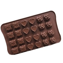 Wholesale Cake Set Toys - Candy Molds & Ice Cube Trays- Rose, Heart & Gift-Silicone Chocolate Molds - Fun, Toy Kids Set Free Shipping